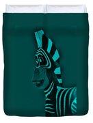 Turquoise Zebra Duvet Cover