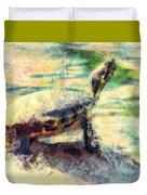 Turtle Brave Duvet Cover
