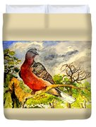 Turtle - Dove Duvet Cover