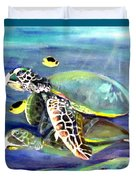 Turtle Duo Duvet Cover