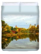 Turtle Pond 2 - Central Park - Nyc Duvet Cover