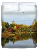 Turtle Pond - Central Park - Nyc Duvet Cover