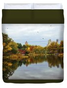 Turtle Pond - Central Park - Nyc Duvet Cover
