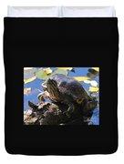 Turtle Smile Duvet Cover