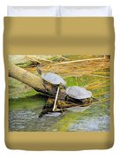 Turtles At The National Zoo Duvet Cover