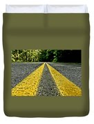 Turtle's View Of Forest Road E67 Duvet Cover