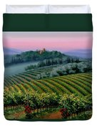 Tuscan Dusk Duvet Cover by Michael Swanson