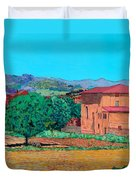 Tuscan Farm Village Duvet Cover