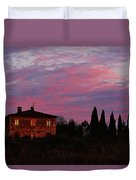 Tuscan Farmhouse And Morning Glow Duvet Cover