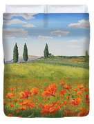 Tuscan Poppies-b Duvet Cover