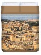 Tuscan Rooftops Siena Duvet Cover