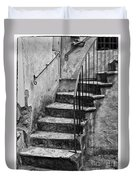 Tuscan Staircase Bw Duvet Cover