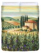 Tuscan Vineyard And Villa Duvet Cover