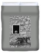 Tuscan Window And Pot Duvet Cover