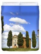 Tuscany - Cappella Di Vitaleta Duvet Cover