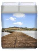 Tuscany - Lago Di Chiusi Duvet Cover