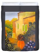 Tuscany Courtyard Duvet Cover