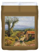 Tuscany Farm Road Duvet Cover