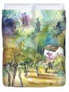 Tuscany Landscape 05 Duvet Cover
