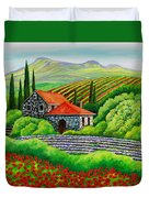 Tuscany Poppies Duvet Cover