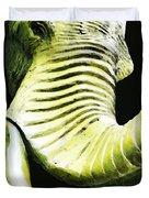 Tusk 1 - Dramatic Elephant Head Shot Art Duvet Cover by Sharon Cummings