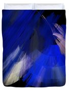 Tutu Stage Left Blue Abstract Duvet Cover