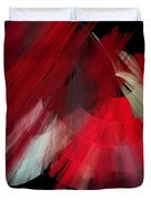 Tutu Stage Left Red Abstract Duvet Cover