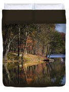 Tuxedo Lake Autumn Duvet Cover