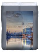 Tv Tower Sunset Duvet Cover