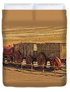 Twenty-mule Team In Sepia Duvet Cover