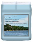 Twenty Third Psalm And Mountains Duvet Cover