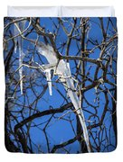 Twigs And Ice Duvet Cover