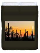 Twilight After Sunset Sonoran Desert Duvet Cover
