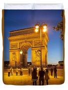 Twilight At Arc De Triomphe Duvet Cover