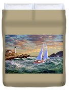 Twilight At Portland Duvet Cover