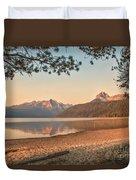 Twilight At Redfish Lake  Duvet Cover
