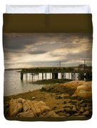 Twilight Cape Porpoise Maine Duvet Cover