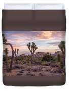 Twilight Comes To Joshua Tree Duvet Cover