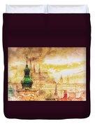 Twilight In Praha Duvet Cover