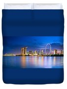 Twilight In Singapore Duvet Cover by Ulrich Schade