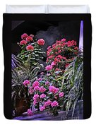 Twilight In The Courtyard Duvet Cover