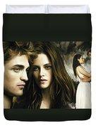 Twilight  Kristen Stewart And Robert Pattinson Artwork 1 Duvet Cover