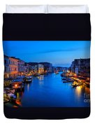 Twilight On The Grand Canal Duvet Cover