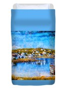 Twillingate In Newfoundland Duvet Cover