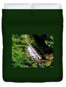 Twin Falls Creek Mount Rainier Duvet Cover