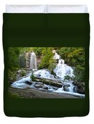 Twin Falls Flows Forth Duvet Cover