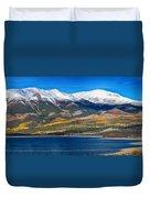 Twin Lakes Colorado Autumn Panorama Duvet Cover