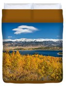 Twin Lakes Colorado Autumn Snow Dusted Mountains Duvet Cover by James BO  Insogna