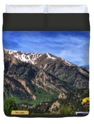 Twin Lakes Colorado Duvet Cover