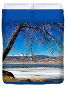 Twin Peaks Blue Duvet Cover